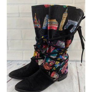 Stuart Weitzman London Boots Pointy Lace Up World